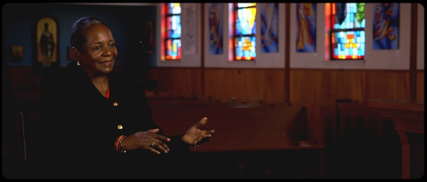 Supreme Mother Rev. Marina King, being interviewed at her church in Jan. 2020.