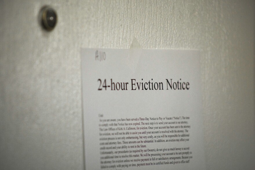 Photo of an eviction notice