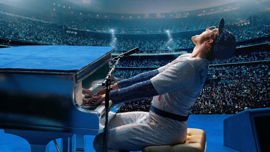 Taron Egerton stars as Elton John in <em>Rocketman.</em>