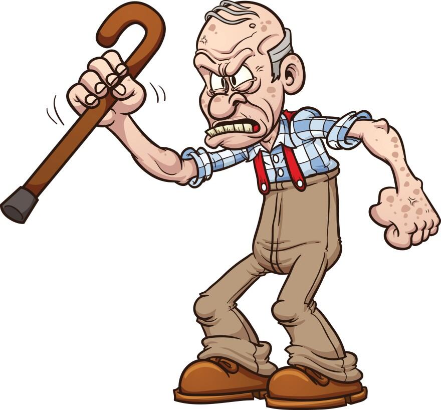 Grumpy old man.