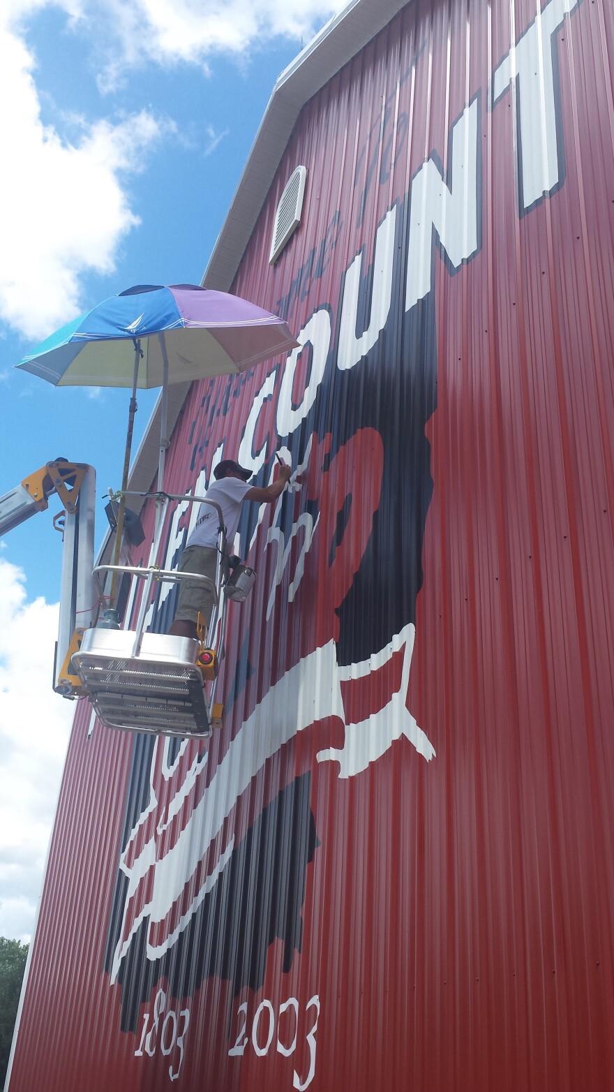 Scott Hagan has painted over 600 barns.