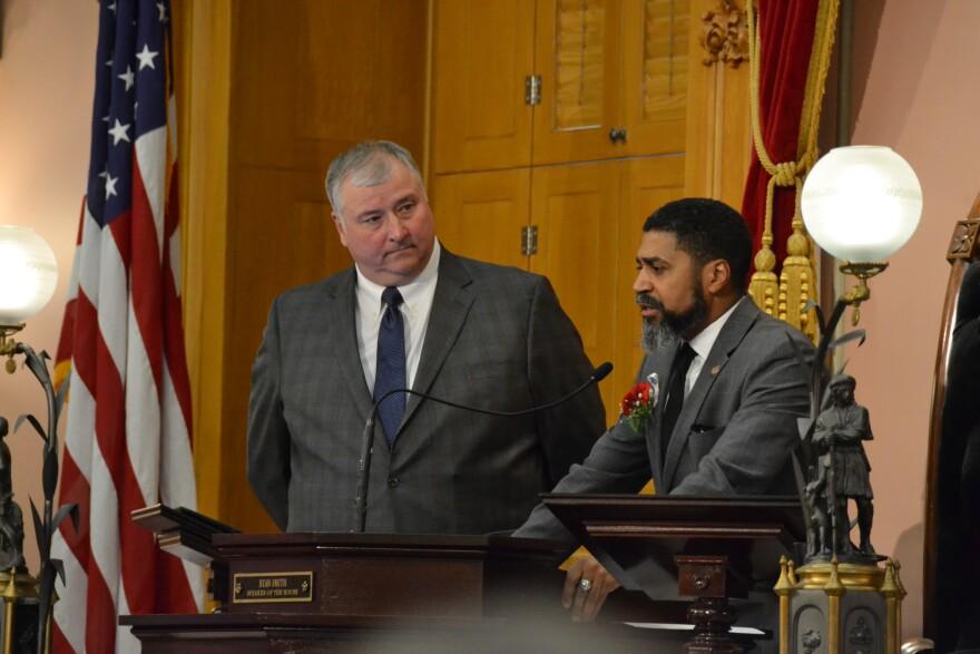 House Speaker Larry Householder and Minority Leader Fred Strahorn