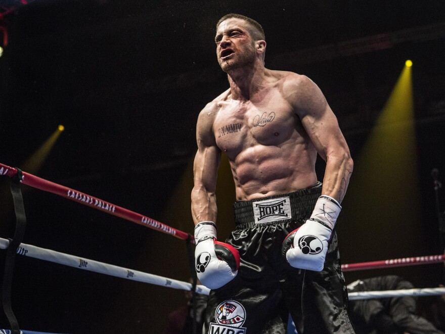 Jake Gyllenhaal plays boxer Billy Hope in <em>Southpaw.</em>