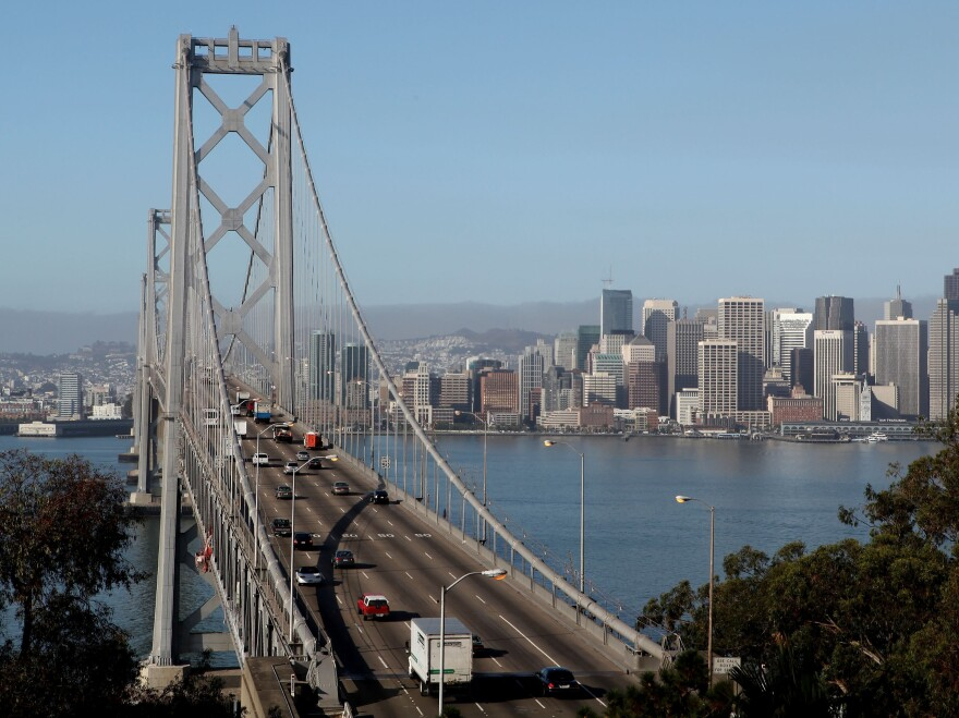The western span of the San Francisco Bay Bridge in a photo taken earlier this week.