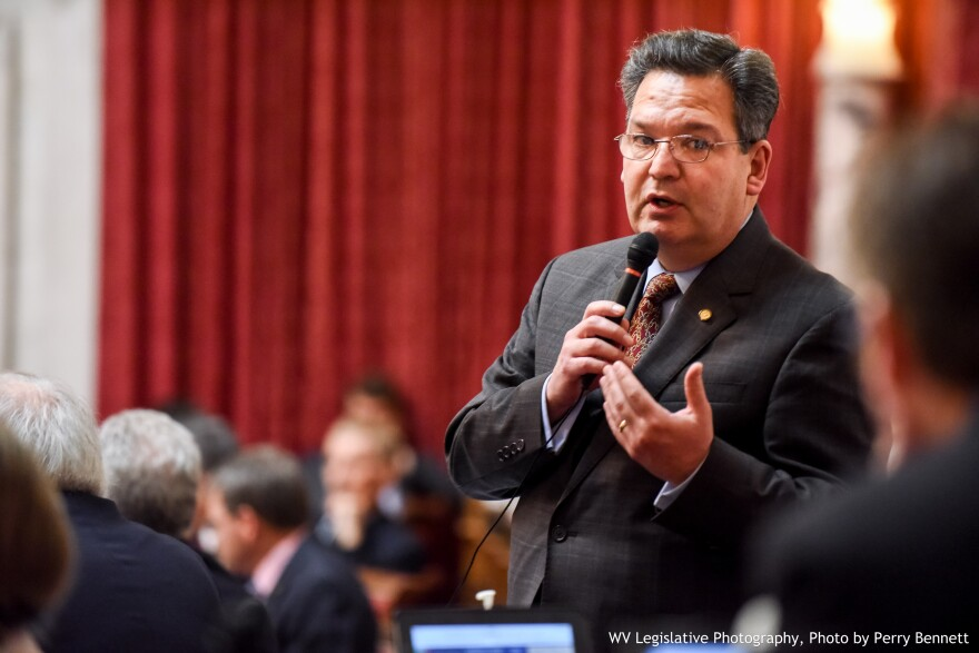 W.Va. House of Delegates Majority Whip Paul Espinosa, R-Jefferson, speaking during a floor session.