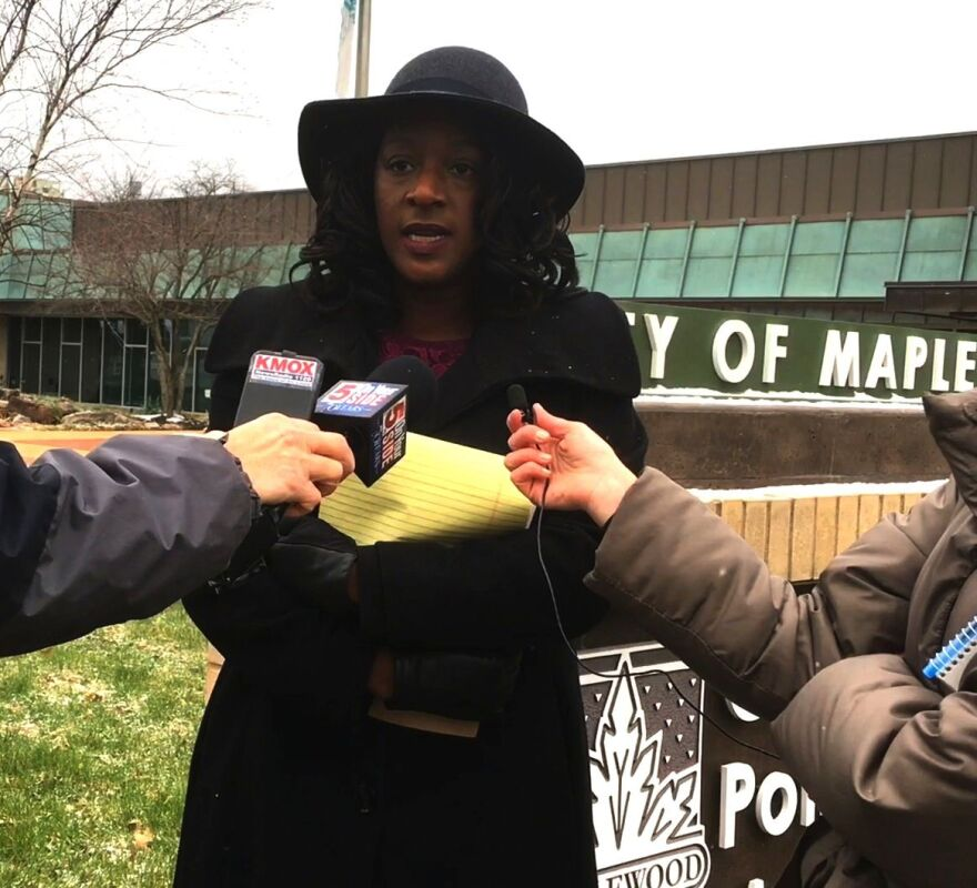 Kalila Jackson, senior staff attorney at ‎Metropolitan St. Louis Equal Housing Opportunity Council, speaks about the housing discrimination lawsuit filed against Maplewood in March of 2017.