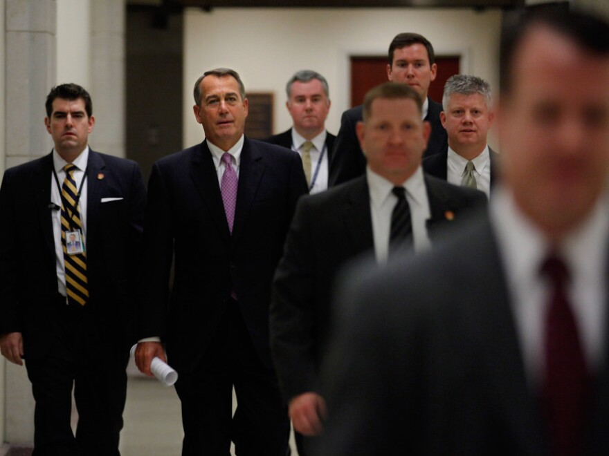 Speaker of the House John Boehner, R-Ohio, arrives for a news conference Dec. 22 to announce that he and Senate Majority Leader Harry Reid, D-Nev., negotiated a deal on the payroll tax cut that was set to expire at the end of the year.