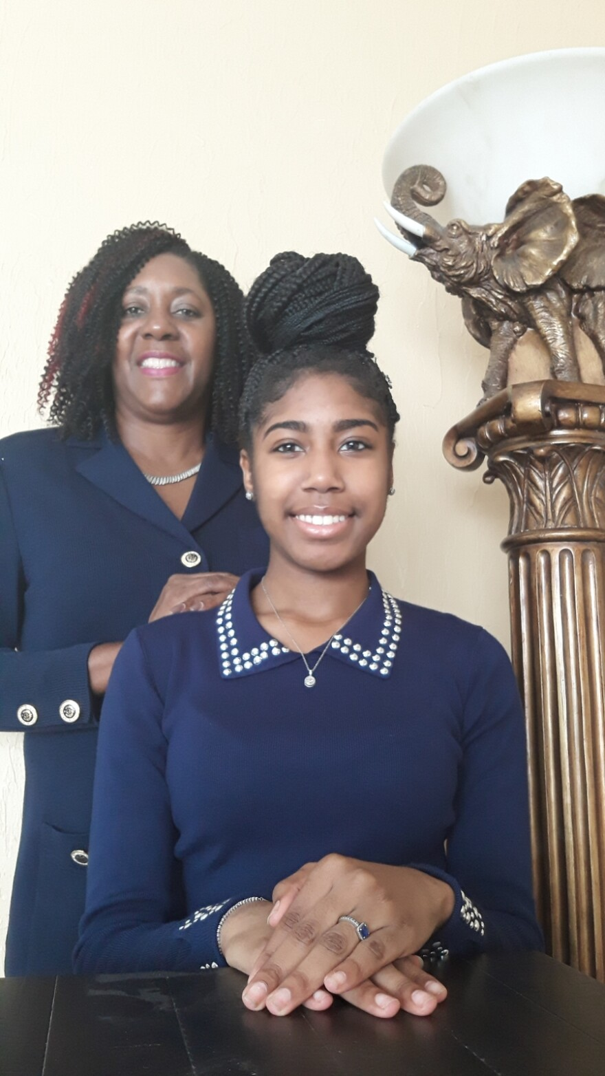Rep. Patricia Williams and her foster daughter Ronia.