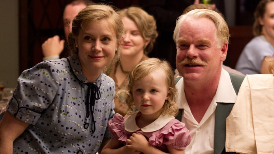 """In Paul Thomas Anderson's <em>The Master,</em> Amy Adams plays Peggy Dodd, the spouse of a charismatic spiritual leader, played by Philip Seymour Hoffman. Adams says her character is smart and educated but feels """"more powerful behind a man than in front of a man."""""""