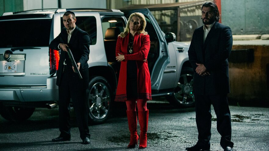 """The Russian mob plans a 999, code for """"officer down"""", to pull of a heist in <em>Triple 9</em>."""