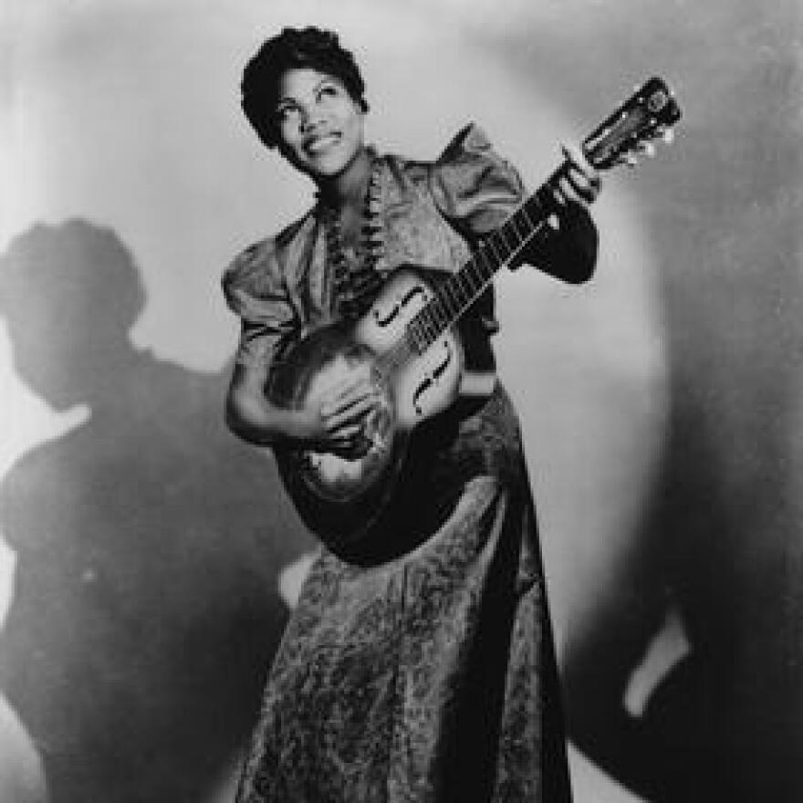 A publicity photo for Sister Rosetta Tharpe in 1938.