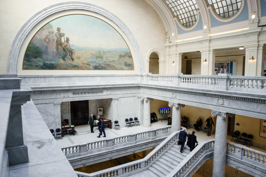 Photo inside the Utah State Capitol.