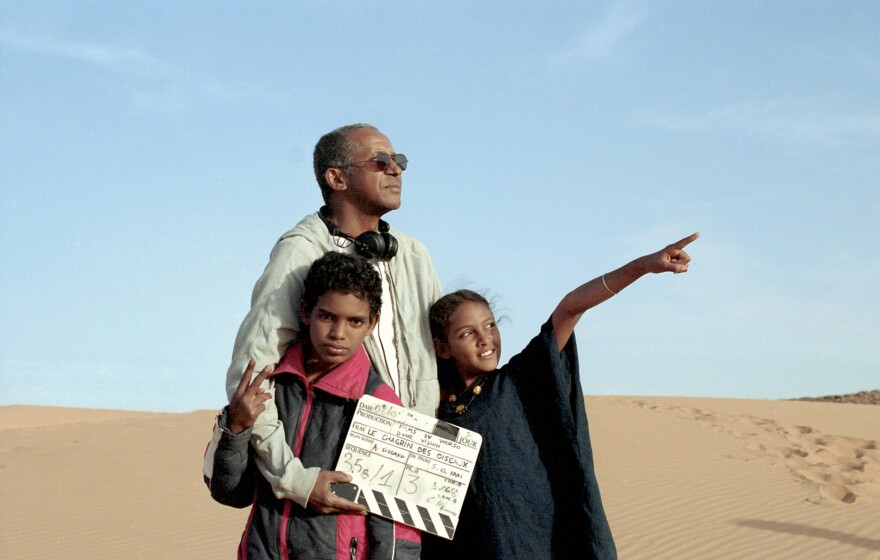 Director Abderrahmane Sissako cast youngsters Mehdi A.G. Mohamed (left) and Layla Walet Mohamed (right), who followed him everywhere when he visited the refugee camp where she lives.