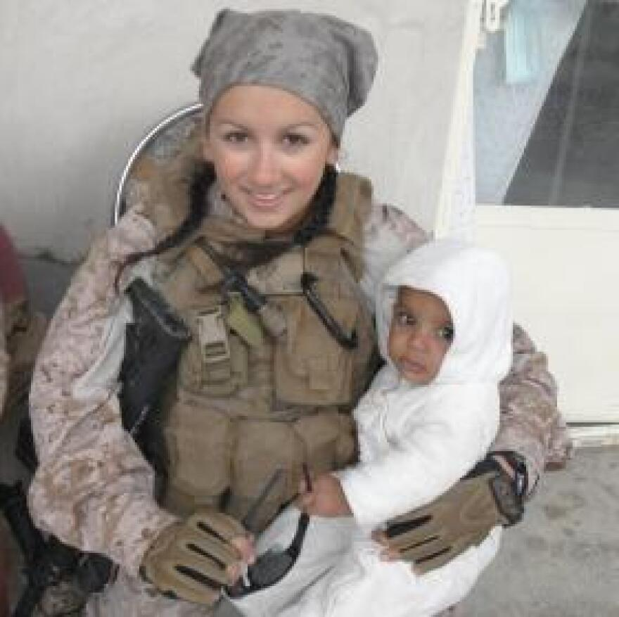 Deana Martorella Orellana worked with women and children in Afghanistan during her tour of duty in the Marine Corps. Her sister remembers her saying 'she could handle everything except for the kids.'