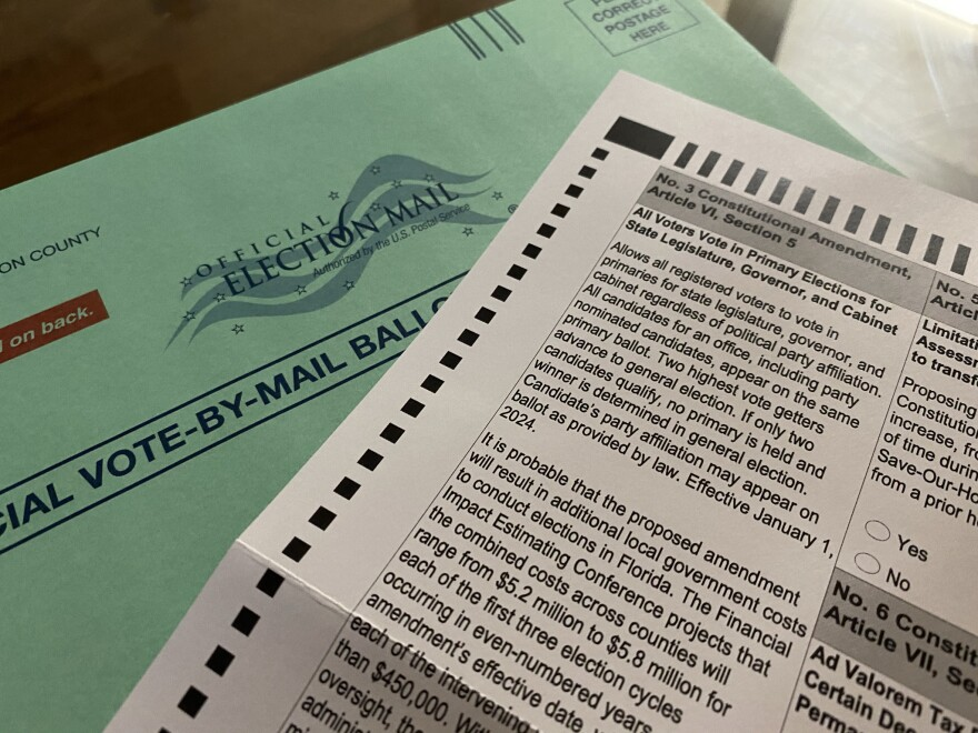 2020 Ballot Constitutional Amendment 3, All Voters Vote.