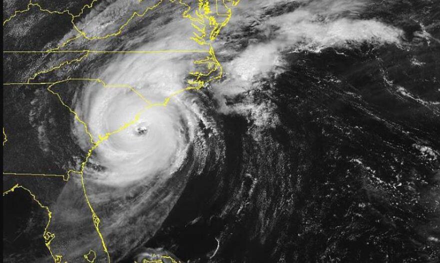 Dorian satellite image