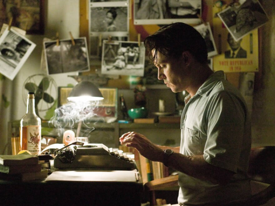 <p>Johnny Depp plays American journalist Paul Kemp in<em> The Rum Diary, </em>a movie based on a Hunter S. Thompson novel. Kemp travels to Puerto Rico to work at <em>The San Juan Star</em>, a Puerto Rican English-language newspaper.</p>
