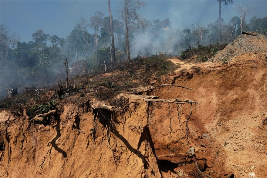A deforested area of the Amazon rainforest in Para state, Brazil, in August. On Monday, the Brazilian government reversed its decision to open the National Reserve of Copper and Associates, which rests across Para and Amapa states.