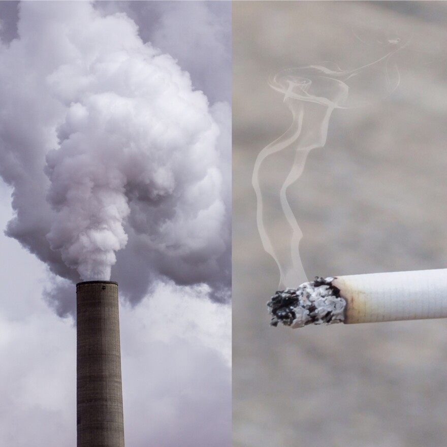 photo of smog and cigarettes