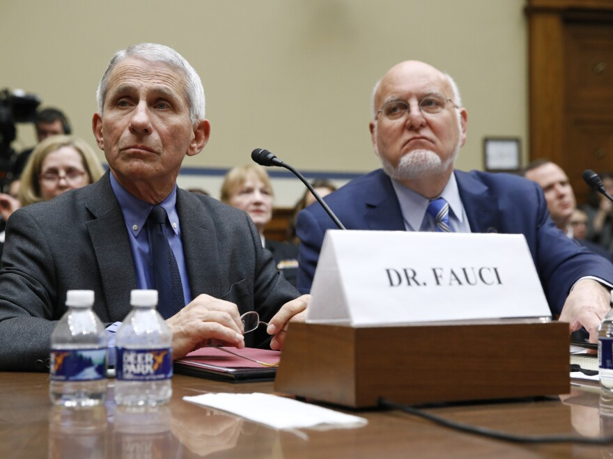 Dr. Anthony Fauci, director of the National Institute of Allergy and Infectious Diseases, and CDC Director Robert Redfield will appear before a Senate committee on May 12.