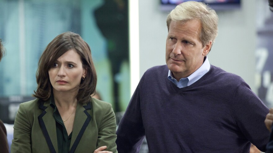 In Aaron Sorkin's new HBO drama, <em>The Newsroom, </em>producer MacKenzie McHale (Emily Mortimer) and anchorman Will McAvoy (Jeff Daniels) tackle real hard-hitting news stories and call out those who don't tell the truth.