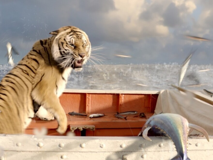 As if being lost at sea isn't daunting for a teenager, Pi's companion on his lifeboat is a Bengal tiger. <em>Life of Pi</em> is based on Yann Martel's 2001 Man Booker Prize-winning novel.