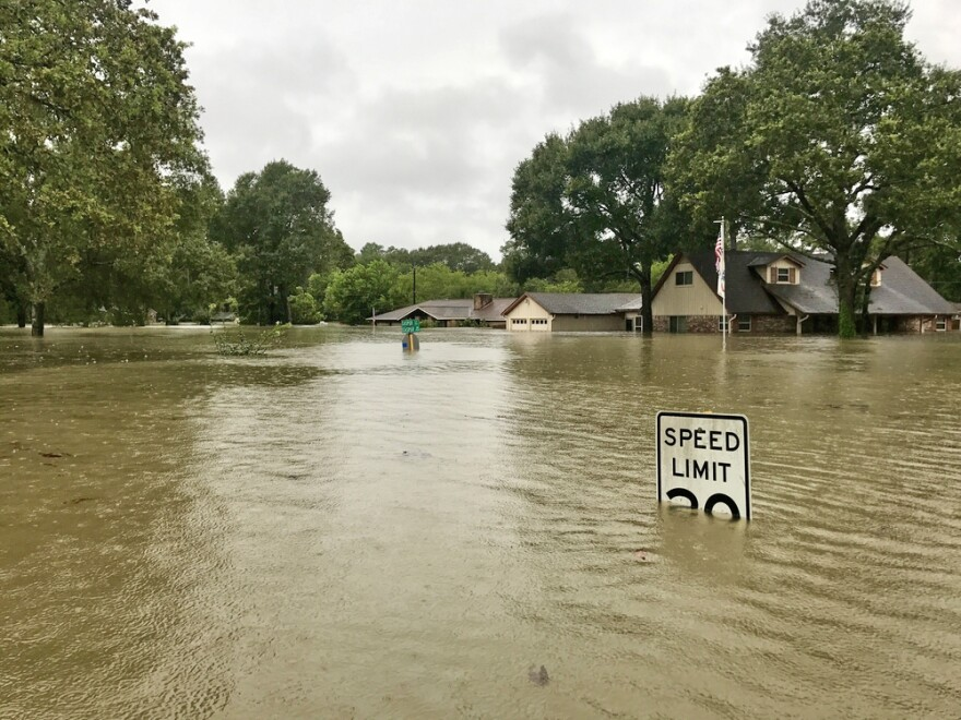 Hurricane Harvey aftermath in Spring, Texas, in 2017.
