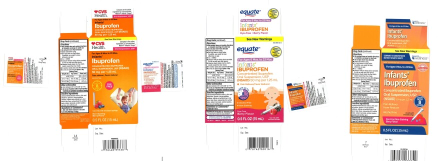 These versions of infant ibuprofen sold at Walmart, CVS and Family Dollar are being voluntarily recalled.