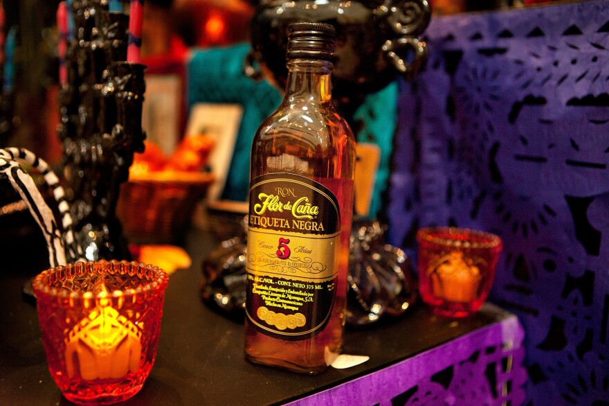 Alcohol: Is provided for visiting ancestral spirits to to toast their arrival. In pre-Columbian times, pulque, a beverage made from the sap of maguey or agave plant was reserved for special spiritual ceremonies. Today, any favorite alcoholic beverage can be used.
