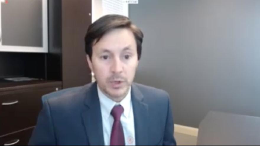Screenshot of Kirk Cullimore speaking during the Utah Legislature's virtual meeting