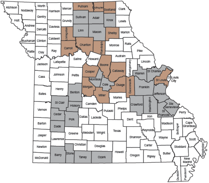 Deer hunters in 25 select Missouri counties are required to bring all harvested white-tailed deer to a designated sampling station to test if it has chronic wasting disease.