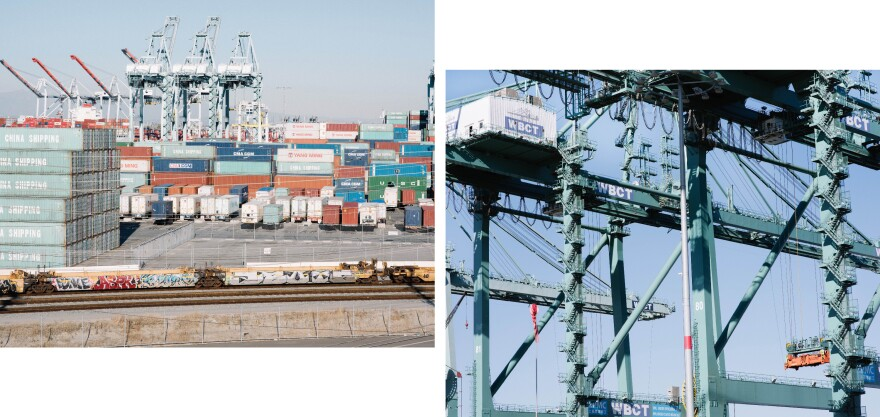 The ports of Los Angeles and Long Beach play a major role in the local economy – more than $1 billion worth of product moves through these ports each day. They make it easier to import goods like electronics, furniture and auto parts from Asia, as well as export goods produced in Southern Californa, like high-end jeans and agricultural goods.