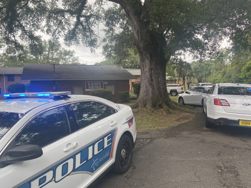 TPD officers were at the scene of an officer involved shooting at Leon Arms apartment complex on Tallahassee's Southside just after 11 a.m. Wednesday.