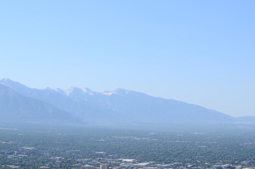 Photo of smog over SLC.