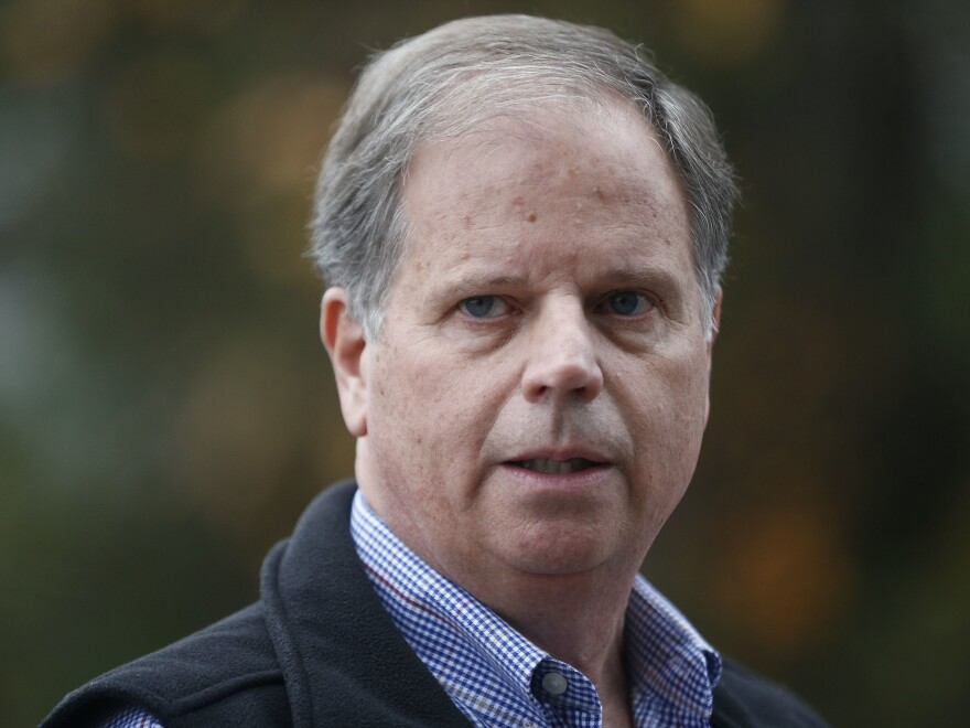 """""""I think the Alabama election ... it wasn't about me. It was never about me,"""" Jones said early Friday."""