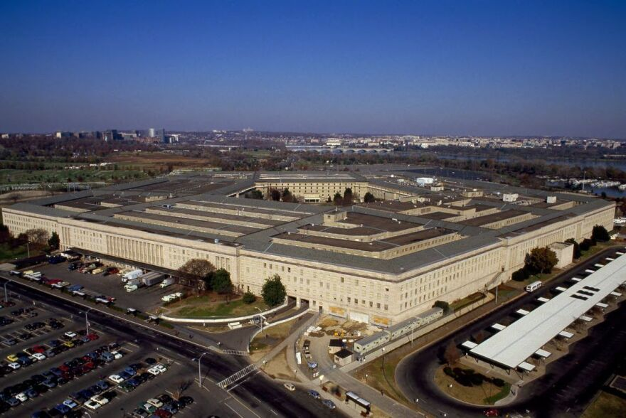 A photo of the Pentagon.