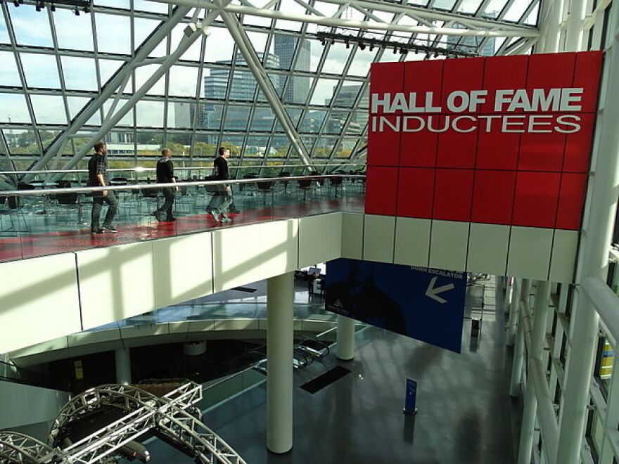 Interior of Rock & Roll Hall of Fame and Museum - Cleveland - Ohio - USA