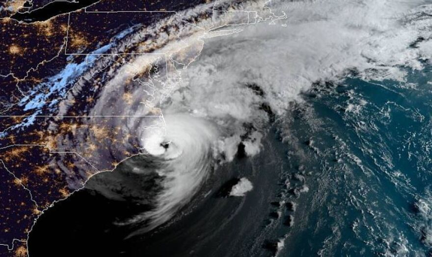 Hurricane Dorian raked the North Carolina coast. NOAA