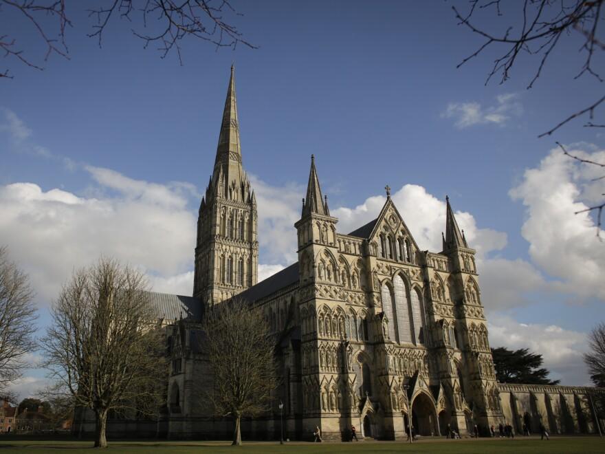 Salisbury Cathedral, in Salisbury, England.