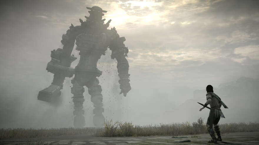 This image from the 2018 remake of <em>Shadow of the Colossus</em> emphasizes the lonely nature of its landscape.