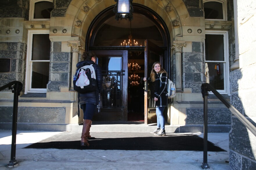 Margie Fuchs, a senior English major at Georgetown University, is still deciding her after-college plans.