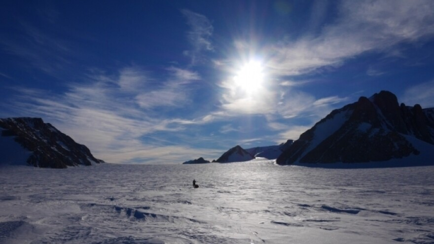 Ben Saunders and Tarka L'Herpiniere trek from the coast of Antarctica to the South Pole and back, breaking the record for the longest polar journey on foot.