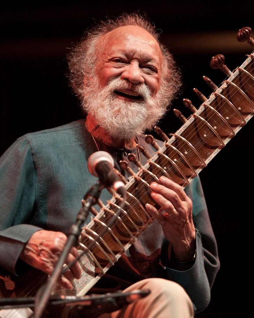 Ravi Shankar performs at the age of 91.