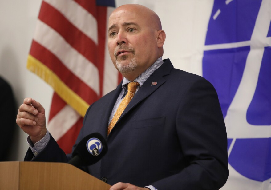 U.S. Rep. Tom MacArthur, R-N.J., speaks at event about addressing opioid crisis in July in Florence, N.J.