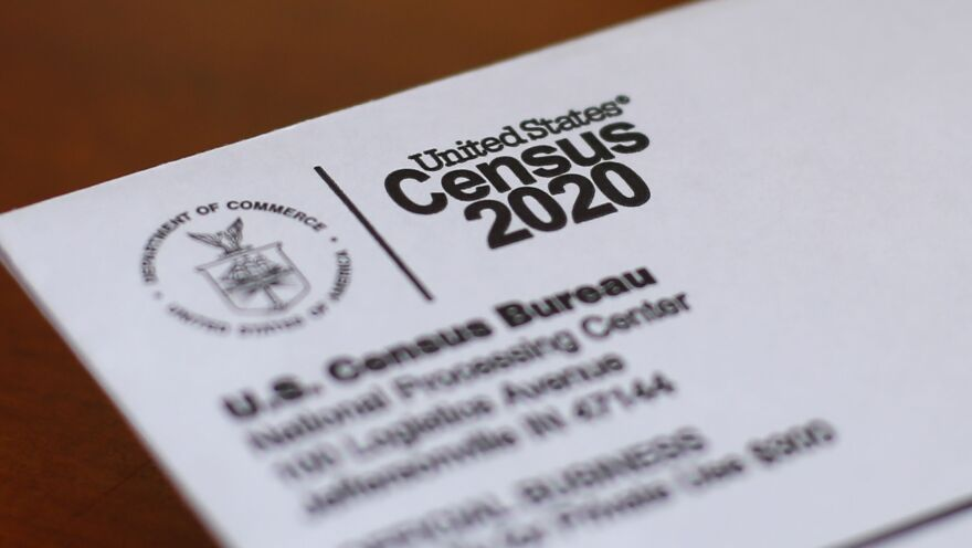 A 2020 file photo of an envelope containing a 2020 census letter. The COVID-19 pandemic and lawsuits around the every-ten-years population count is delaying the release of census results this year, creating challenges for Oregon lawmakers.