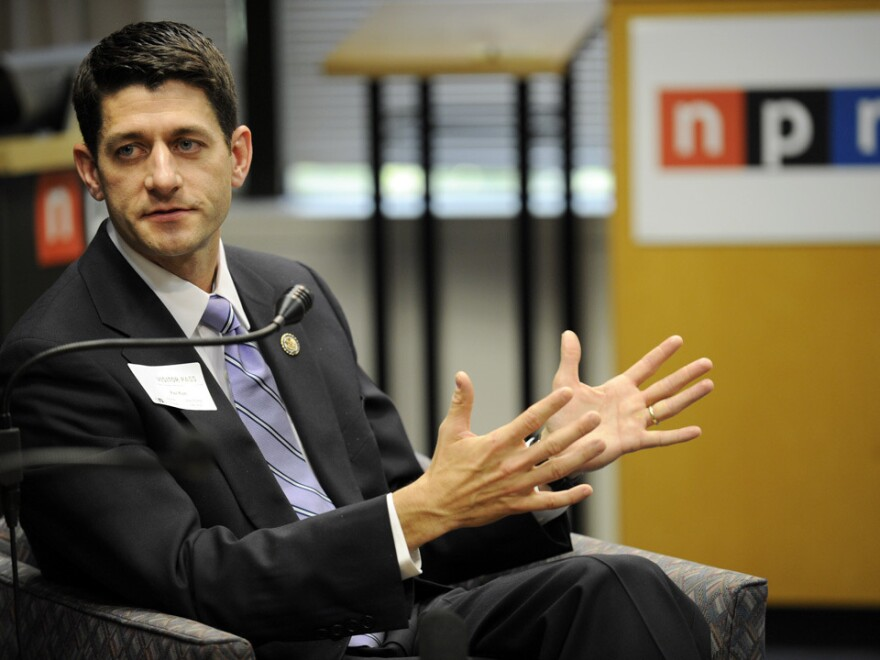 Rep. Paul Ryan (R-WI) at NPR headquarters in May.