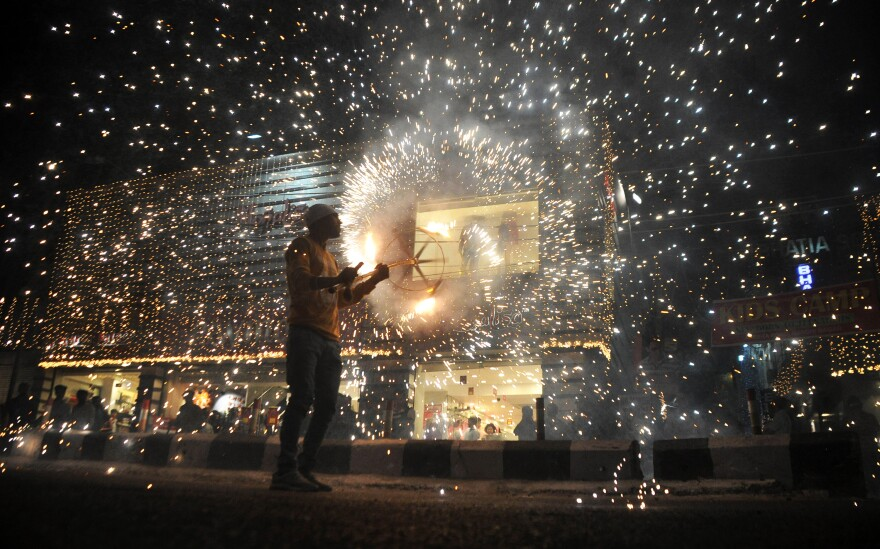Fireworks are set off on the eve of last year's Diwali festival.