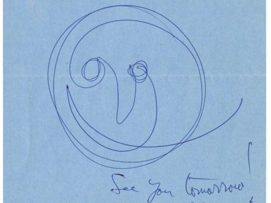 Doodle by photographer Richard Avedon in <em>Scrawl</em>.