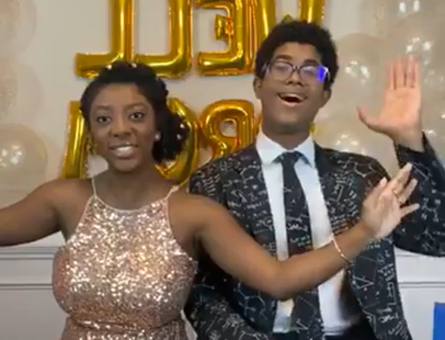 Hannah Lucas, 18, and her brother Charlie, 15, hosted the We Are Well prom on Instagram on Saturday, May 2, 2020.