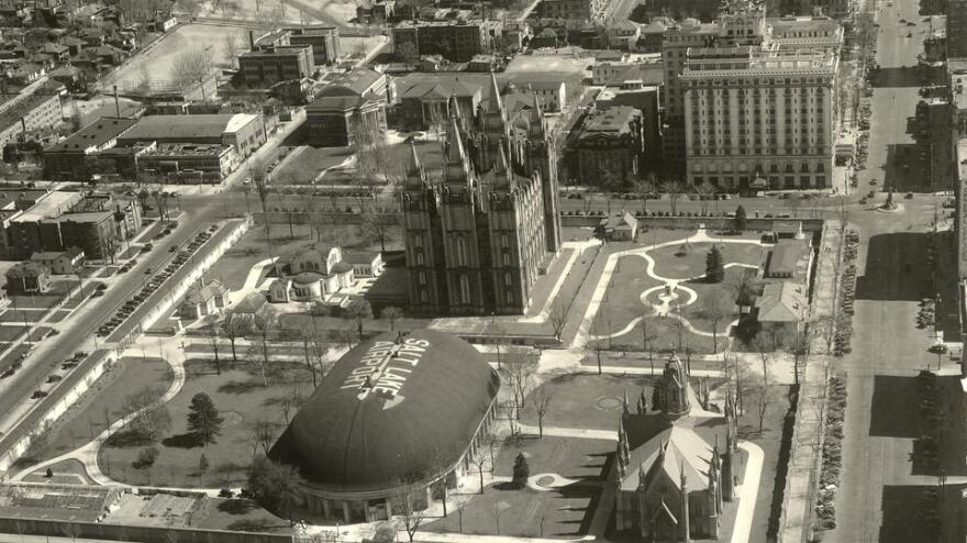 Photo of Temple Square.